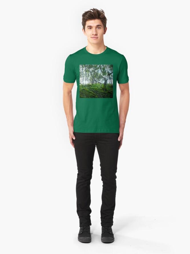 T-shirt ajusté ''Green Forest': autre vue