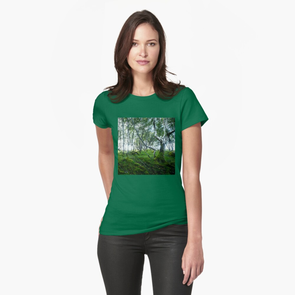 T-shirt moulant « Green Forest»
