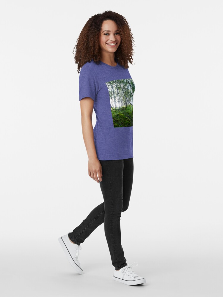 T-shirt chiné ''Green Forest': autre vue