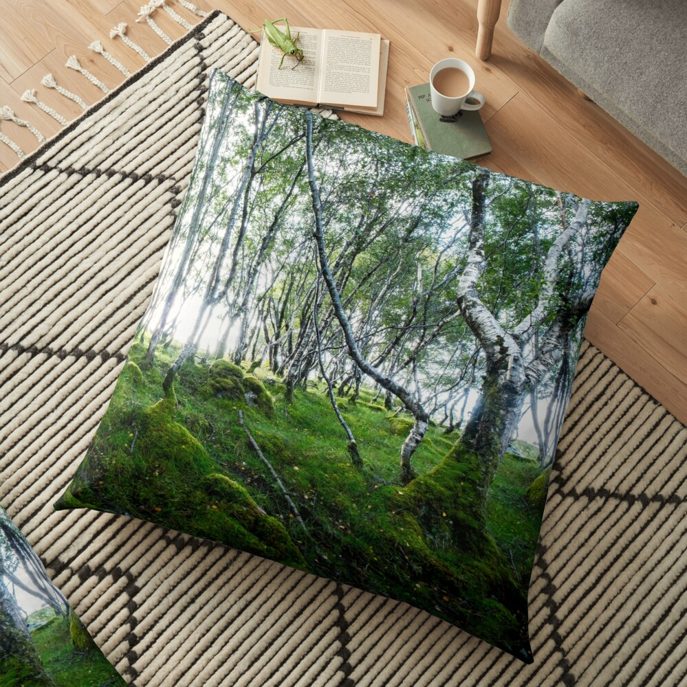 Coussin de sol « Green Forest»