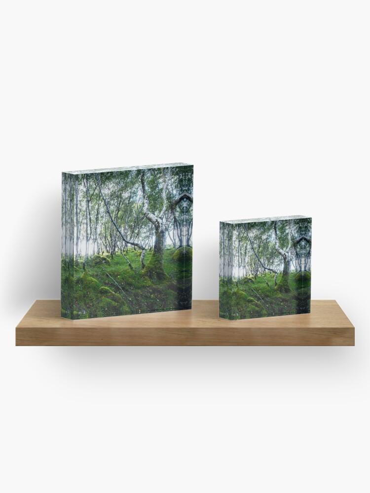 Bloc acrylique ''Green Forest': autre vue