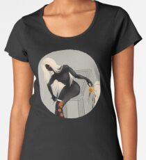 Accident With Knife And Coffee   Creepy Art Women's Premium T-Shirt