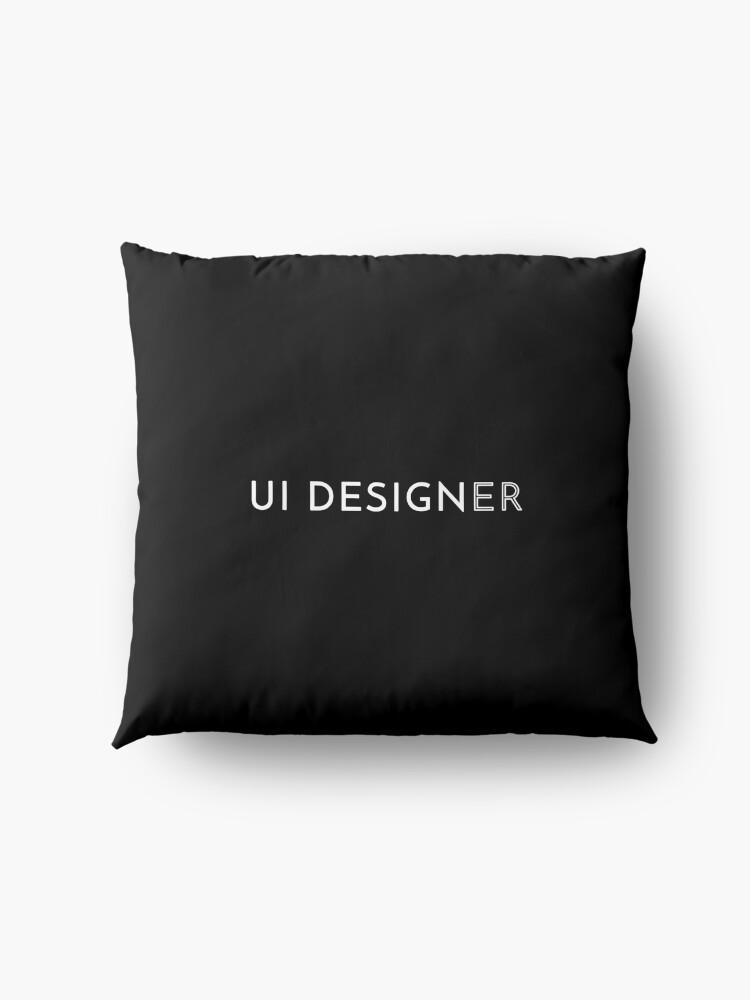 Alternate view of UI Designer Floor Pillow