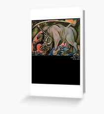 Pablo Picasso Dying Bull 1934 T Shirt, Artwork Reproduction Greeting Card