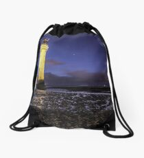 Perch Rock Lighthouse Long Exposure Drawstring Bag