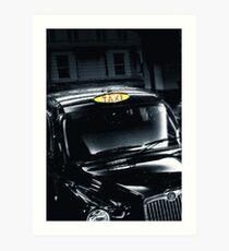 Black Cab Art Print