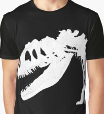 T-Rex Skeleton White Graphic T-Shirt