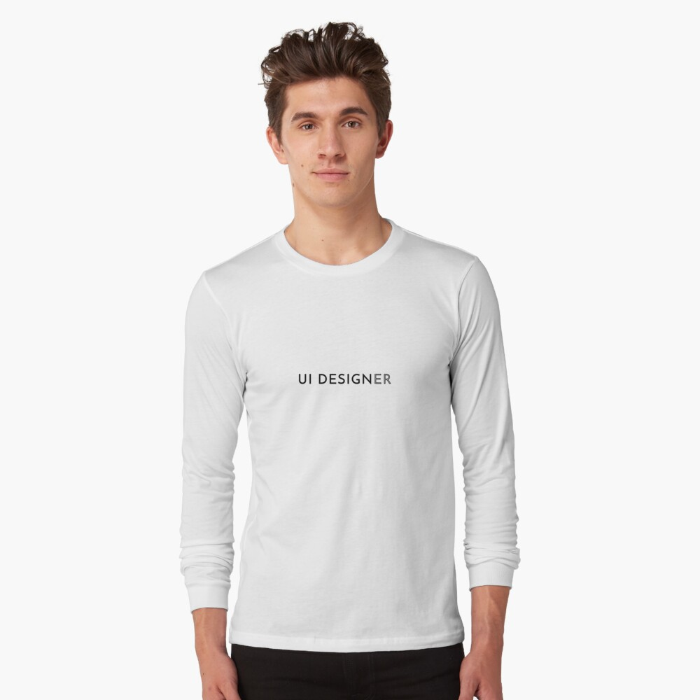UI Designer (Inverted) Long Sleeve T-Shirt