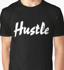 HUSTLE white Graphic T-Shirt