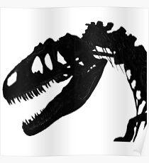 T-Rex Skeleton Black Poster