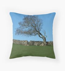 Inishowen Flora - Windswept Tree Throw Pillow