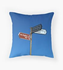 Inishowen Landscape - Sign Throw Pillow