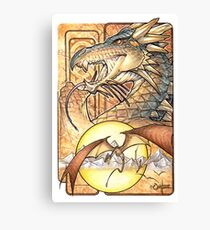 Crowned Dragon Canvas Print