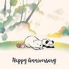 I Loaf You - Happy Anniversary by Panda And Polar Bear