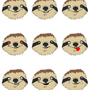 Sloth Emoji Emoticons by PMPTV