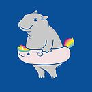 Hippopotamus with hippo-unicorn Inflatable by zoel