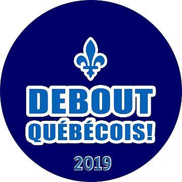 Québec debout 2019 Logo by Spacestuffplus