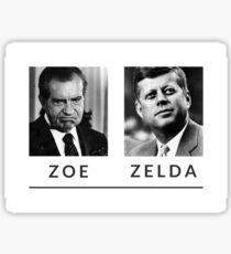 are you a zoe or a zelda? Sticker