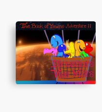 Dinosaurs Visit Mars, The Book of Yawns, Adventure 11 Basket veiw Canvas Print