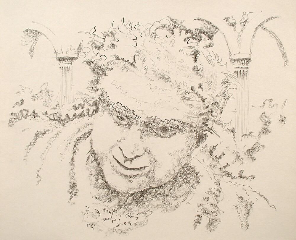 """Nero - graphite pencil on paper - 10"""" x 11"""" by Dave Martsolf"""