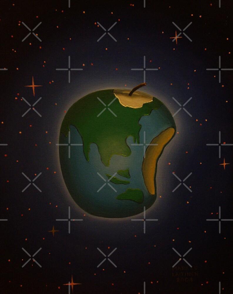 Planet earth apple. by Markku Laitinen