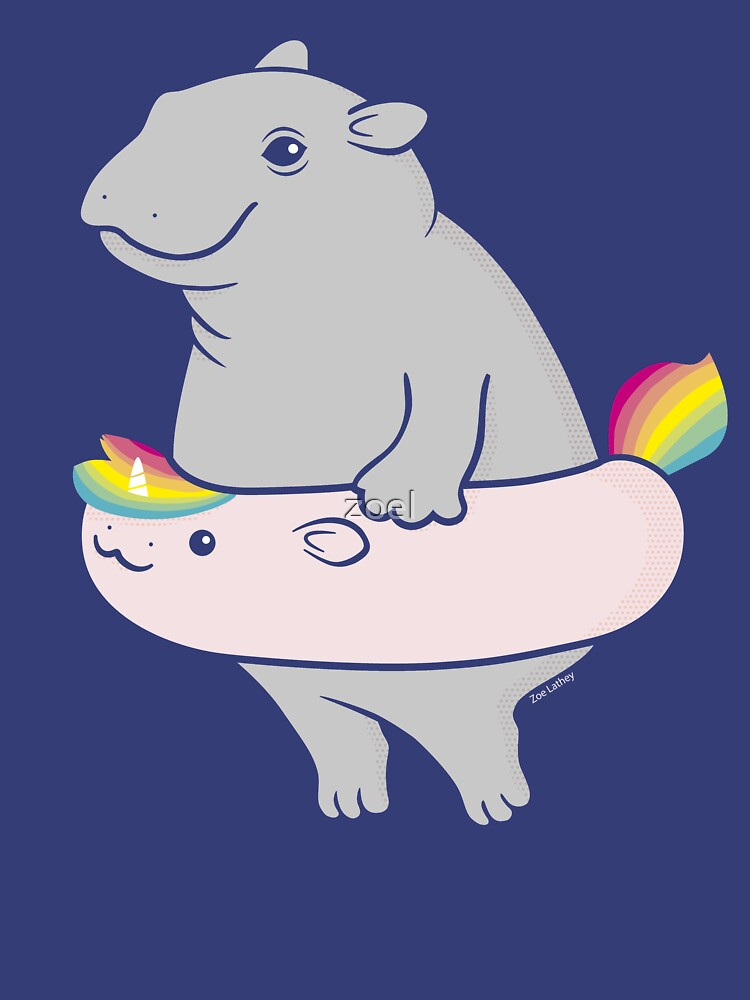 Hippopotamus with hippo-unicorn Inflatable by zoel