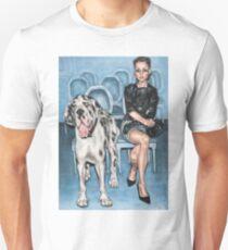 Dame Avec Le Chien Unisex T-Shirt