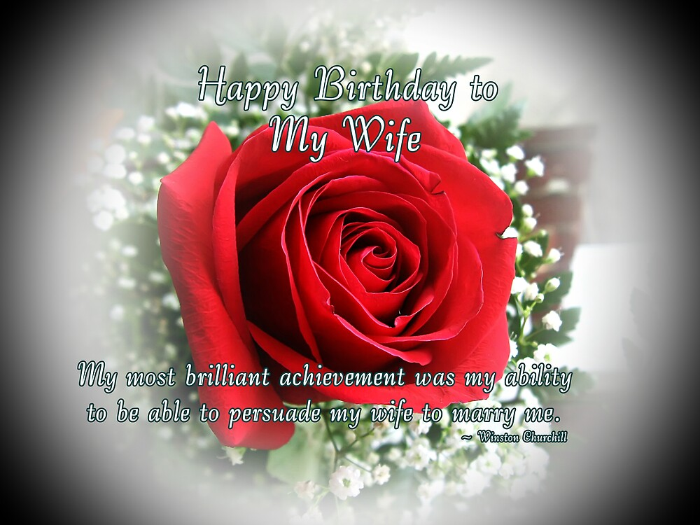Wife Birthday by Greeting Cards by Tracy DeVore – Happy Birthday Cards for My Wife