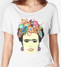 Artsy | Frida Kahlo | T Shirts | Mexico | Kahlo | Mugs | Frida Kahlo Flowers Birds | Art Women's Relaxed Fit T-Shirt