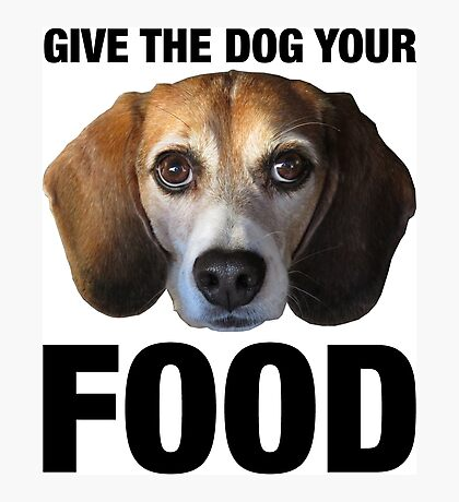 Give The Dog Your Food Photographic Print