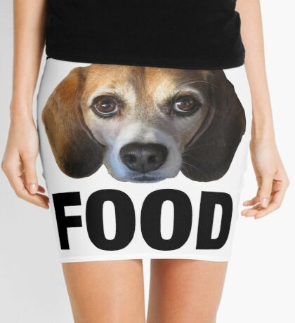 Give The Dog Your Food Mini Skirt