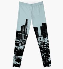 Los Angeles Skyline Stamp  Leggings