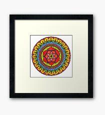 Floral Mandala - Red Rose Framed Print