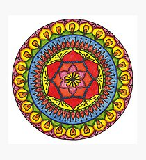 Floral Mandala - Red Rose Photographic Print