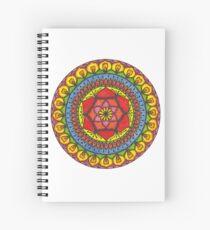 Floral Mandala - Red Rose Spiral Notebook