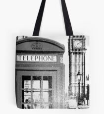 Big Ben and Telephone Booth Historic City Tote Bag