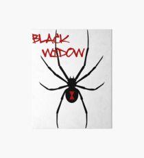 Black Widow Spider Graphic Art Board