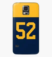Green Bay Football - Alternate Number 52 Case/Skin for Samsung Galaxy