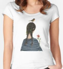 Romantic Girl Woodland Women's Fitted Scoop T-Shirt