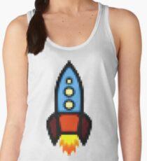 Pixel art rocket retro Women's Tank Top