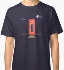 London Red Telephone Booth At Night Classic T-Shirt