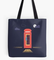 London Red Telephone Booth At Night Tote Bag