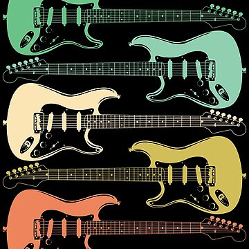 Electric Guitar Retro Design by kudostees