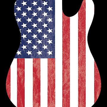 Electric Guitar USA Flag Design by kudostees
