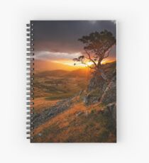 lone tree on a crag Spiral Notebook