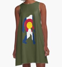 Bigfoot Colorado Patriotic A-Line Dress