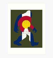 Bigfoot Colorado Patriotic Art Print