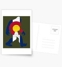 Bigfoot Colorado Patriotic Postcards