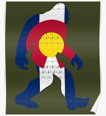 Bigfoot Colorado Patriotic Poster