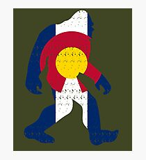 Bigfoot Colorado Patriotic Photographic Print